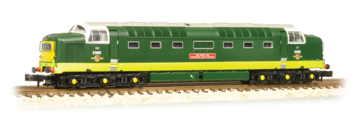 Graham Farish 371-286 BR Class 55 Deltic D9002 The Kings Own Yorkshire Light Infantry Image