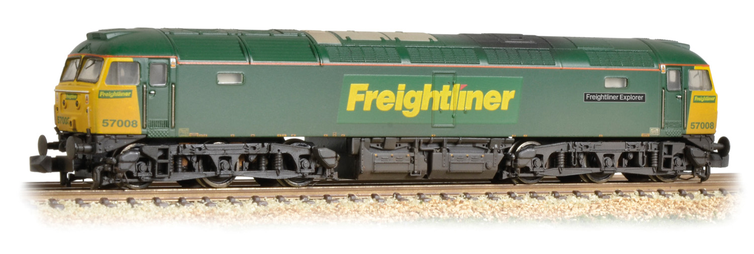 Graham Farish 371-651A BR Class 57/0 57008 Freightliner Explorer Image