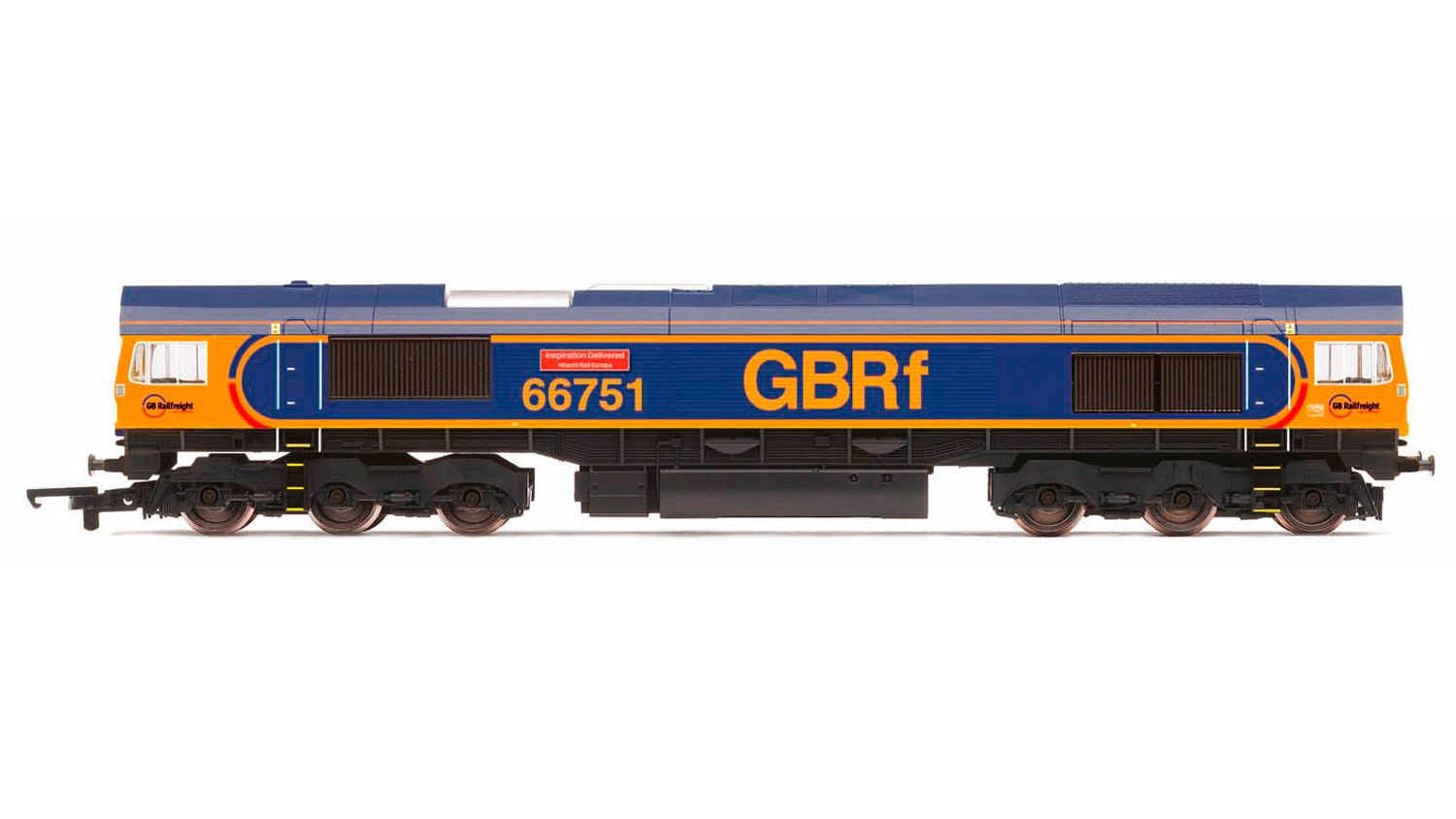 Hornby R3573 BR Class 66/7 66751 Inspiration Delivered - Hitachi Rail Europe Image